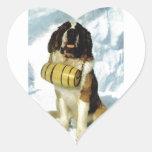 Perro de St Bernard, rescate de la montaña Pegatina En Forma De Corazón