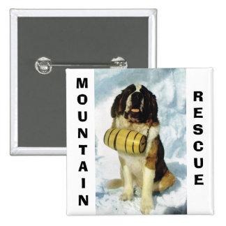 Perro de St Bernard, rescate de la montaña Pin Cuadrado