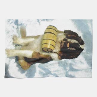 Perro de St Bernard, rescate de la montaña Toalla