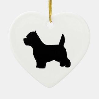 Perro de Terrier blanco de montaña del oeste, Adorno Navideño De Cerámica En Forma De Corazón