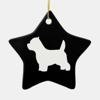 Perro de Terrier blanco de montaña del oeste, Adorno Navideño De Cerámica En Forma De Estrella