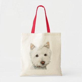 Perro de Terrier blanco de montaña del oeste Bolsa Lienzo