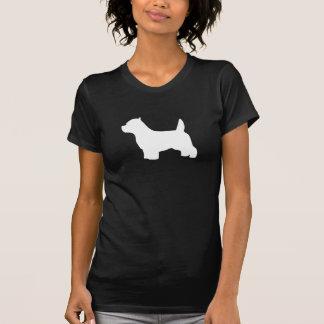 Perro de Terrier blanco de montaña del oeste, silu Tshirt