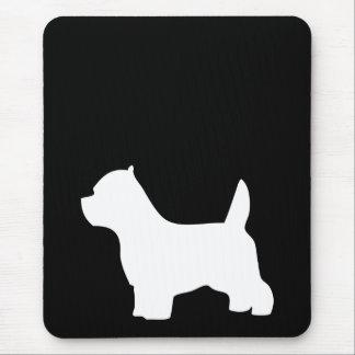 Perro de Terrier blanco de montaña del oeste, silu Alfombrillas De Ratones