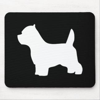 Perro de Terrier blanco de montaña del oeste, silu Alfombrilla De Ratón