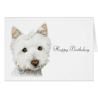 Perro de Terrier blanco de montaña del oeste Tarjeta De Felicitación