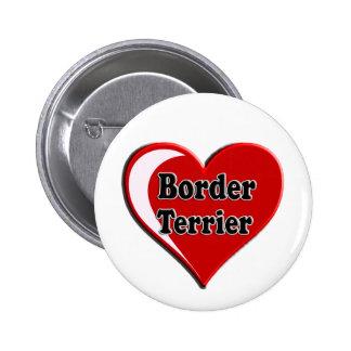 Perro de Terrier de frontera en el corazón para lo Pin