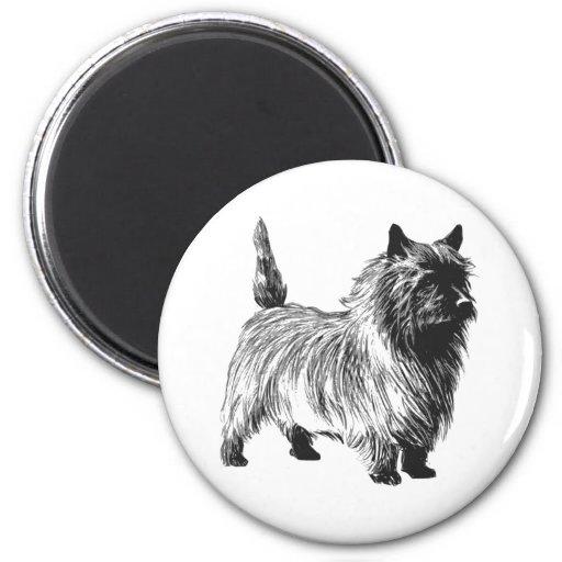 Perro de Terrier de mojón Imán Para Frigorífico