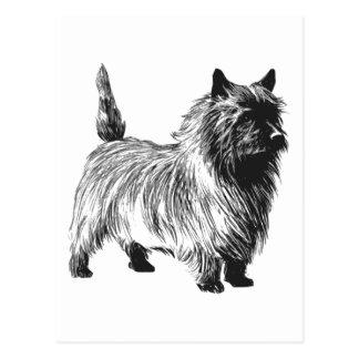 Perro de Terrier de mojón Tarjeta Postal
