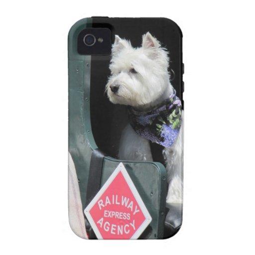 Perro de Terrier del ferrocarril Vibe iPhone 4 Carcasa