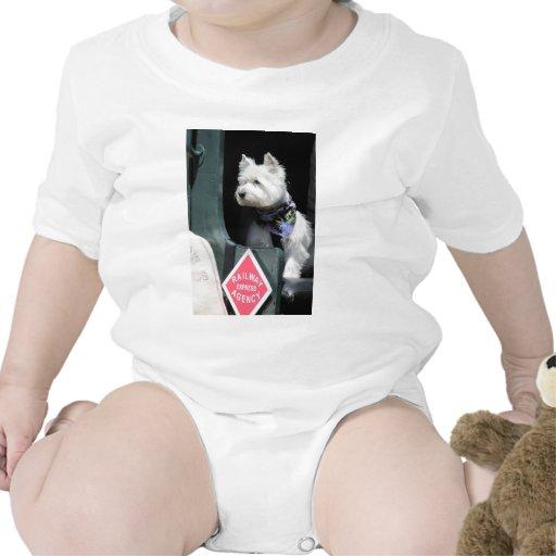 Perro de Terrier del ferrocarril Trajes De Bebé