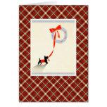 Perro de Terrier del navidad del vintage Felicitaciones