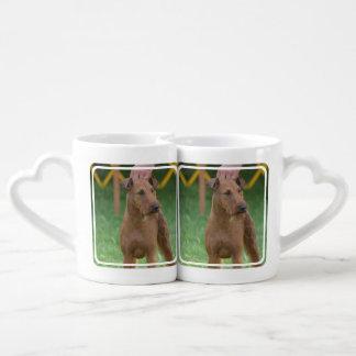 Perro de Terrier irlandés Taza Amorosa