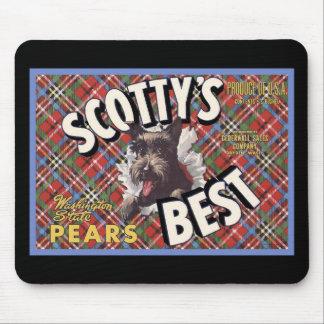 Perro de Terrier Scottys del escocés el mejor Alfombrillas De Ratones
