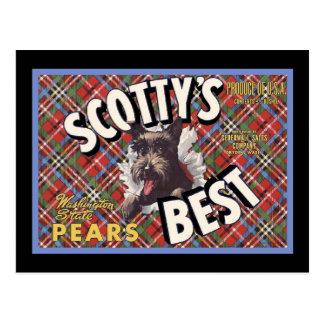 Perro de Terrier Scottys del escocés el mejor Tarjetas Postales