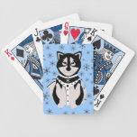 Perro de trineo lindo del Malamute en arnés Baraja Cartas De Poker