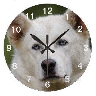 perro de trineo reloj redondo grande