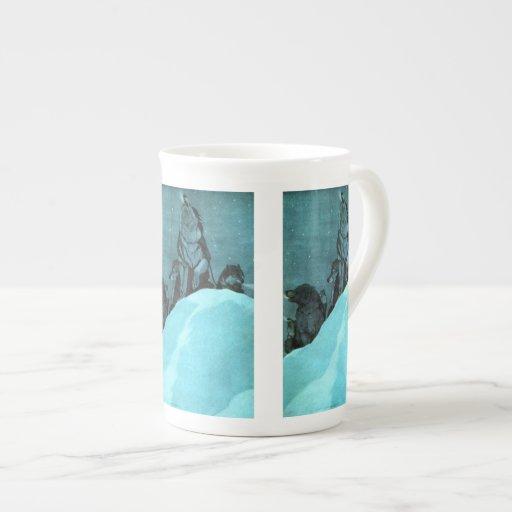 Perro de trineo taza de porcelana
