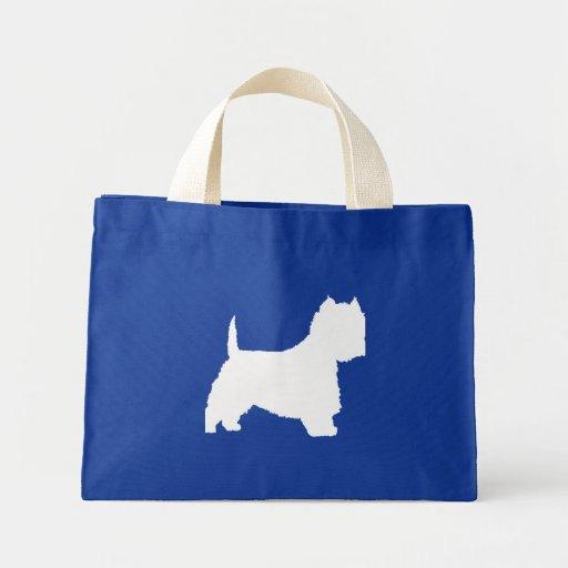 Perro de Westie (blanco) Bolsa Tela Pequeña