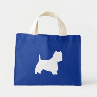 Perro de Westie (blanco) Bolsas