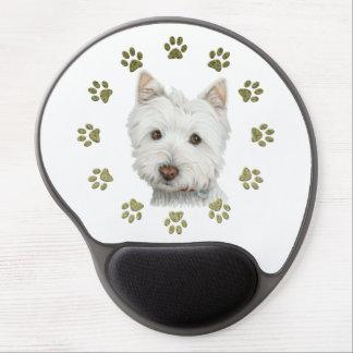 Perro de Westie y gel lindos Mousepad del arte de Alfombrilla De Ratón Con Gel