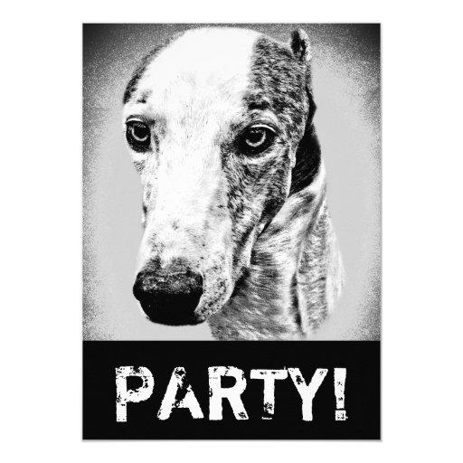 """Perro de Whippet Invitación 5"""" X 7"""""""