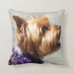 Perro de Yorkshire Terrier Almohadas