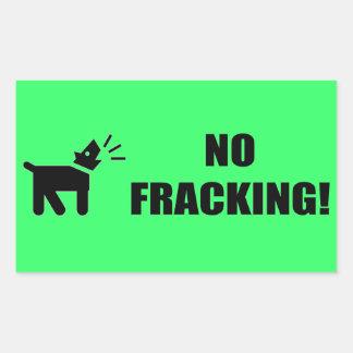 Perro del activista: Ningún Fracking Rectangular Pegatinas