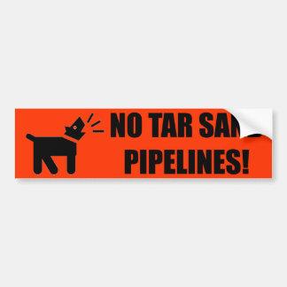 Perro del activista: Ninguna tubería de la arena d Pegatina Para Auto