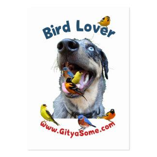 Perro del amante del pájaro tarjetas de visita