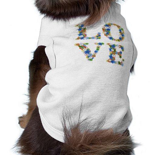Perro del amor camisetas de perrito