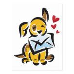 Perro del amor postales