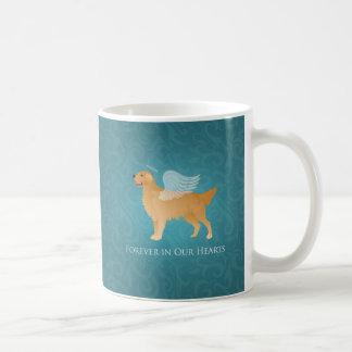Perro del ángel del golden retriever - monumento taza de café
