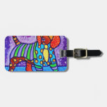 Perro del arco iris etiquetas de maletas