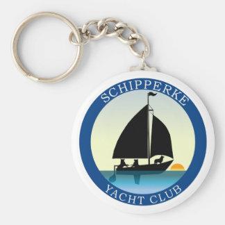 Perro del barco del Schipperke Llavero Redondo Tipo Pin