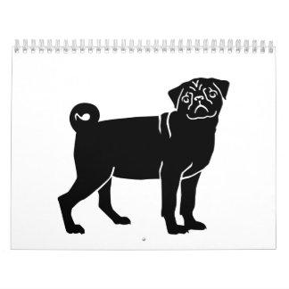 Perro del barro amasado calendarios de pared