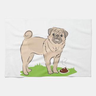 Perro del barro amasado con un poo HICE UN PRESENT Toalla De Cocina