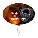 Perro del barro amasado de Halloween Decoraciones De Tartas