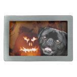 Perro del barro amasado de Halloween Hebillas De Cinturón Rectangulares