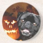 Perro del barro amasado de Halloween Posavasos Para Bebidas