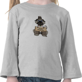 Perro del barro amasado de la acción de gracias camiseta