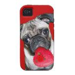 Perro del barro amasado de la tarjeta del día de S iPhone 4/4S Fundas