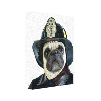 Perro del barro amasado del bombero lona envuelta para galerias