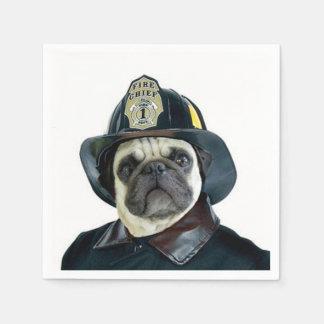 Perro del barro amasado del bombero servilletas desechables
