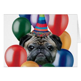 Perro del barro amasado del feliz cumpleaños tarjeta de felicitación