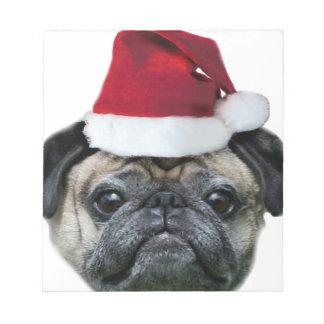 Perro del barro amasado del navidad bloc de notas
