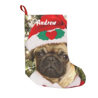 Perro del barro amasado del navidad calcetín de navidad pequeño