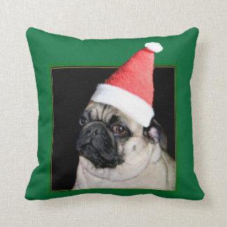 Perro del barro amasado del navidad cojín