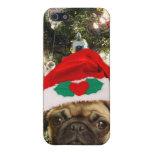Perro del barro amasado del navidad iPhone 5 carcasas