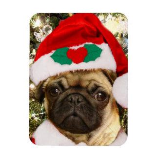 Perro del barro amasado del navidad iman de vinilo